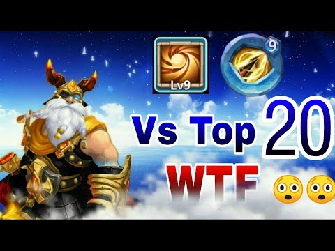 Thunder God | Vs Top-20😲😲 | Unexpected😲😲 | 9 Sacred Light | 9 Zealous Drive | Castle Clash