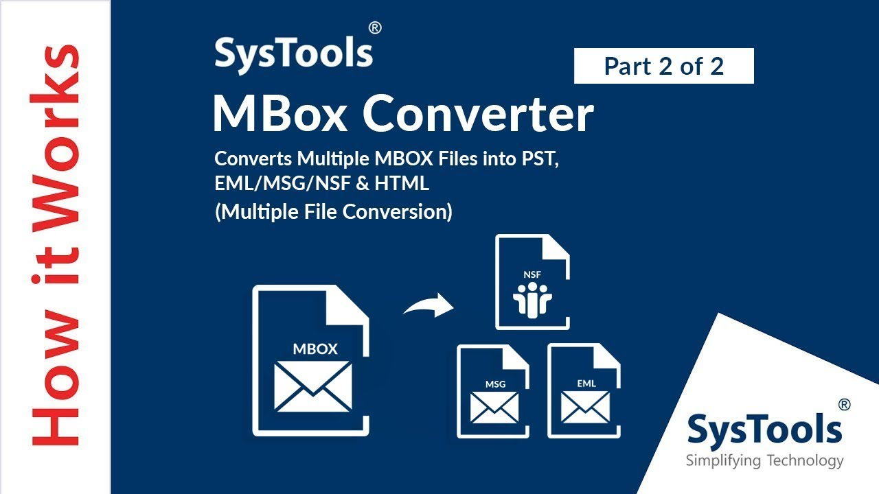 MBOX to Outlook Converter For Mac, Win – Export Multiple
