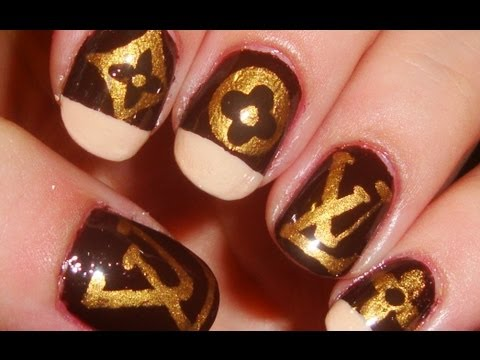 Designer Series Louis Vuitton Inspired Nail Art Youtube