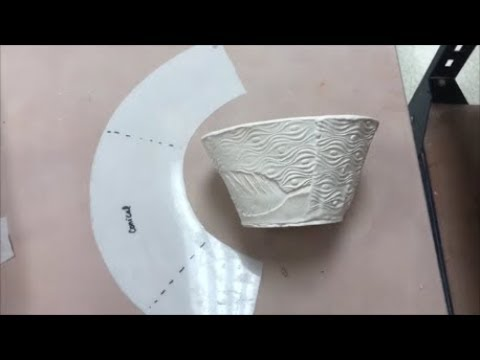 How To Make A Conical Pattern Or Template For Slab Forming In Clay