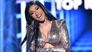 Cardi B Wins Top Rap Song award speech but it's epic