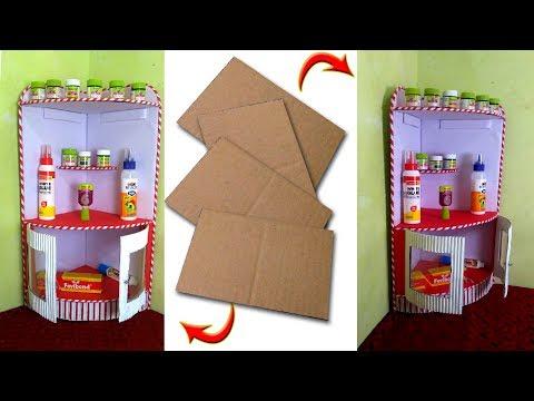 How to make Beautiful Corner Shelf   Best out of waste   Multi Purpose Organizer   DIY Kichen Shelf