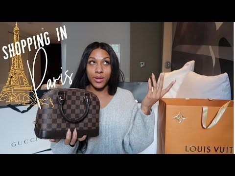 SHOPPING IN PARIS | Gucci, Givenchy, Versace, YSL, and Louis Vuitton