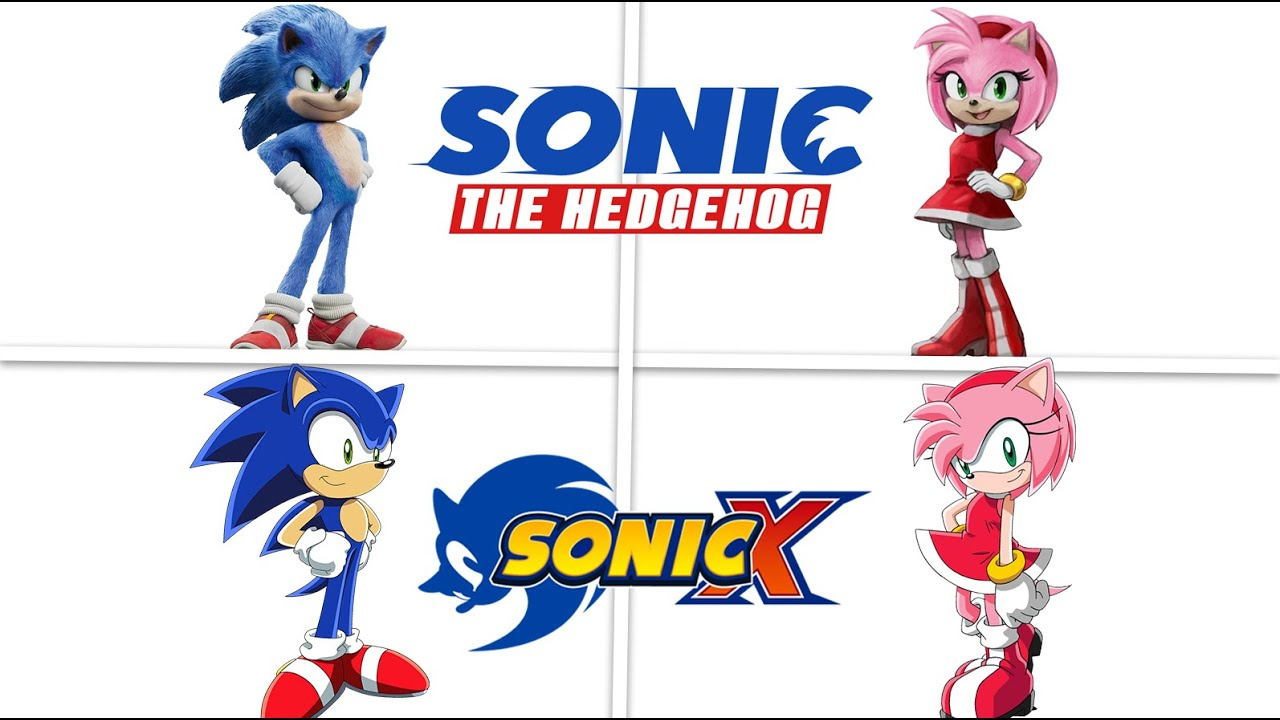 Sonic The Hedgehog Comparison Between Anime And Movie Design Youtube