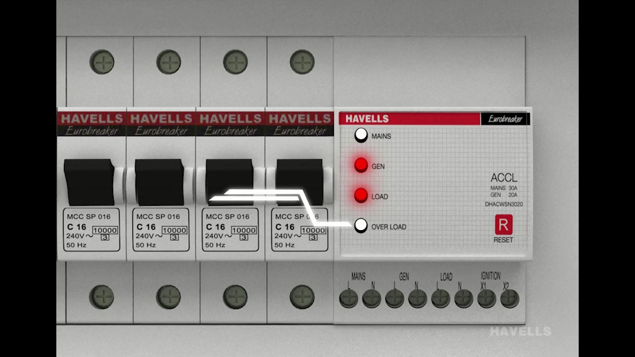 small resolution of havells accl automatic changeover current limiter for smart cities youtube