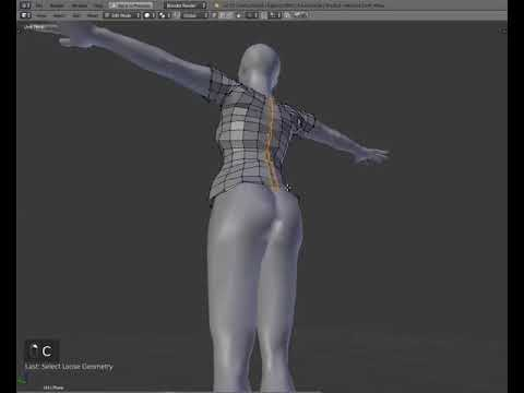 Making clothes in Blender #2 for second Life