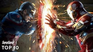 Top 10 Superhero Vs Superhero Fights | SuperSuper