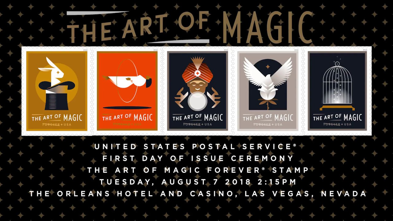 Art Of Magic Forever Stamp First Day Of Issue Ceremony Youtube - United-states-forever-stamps
