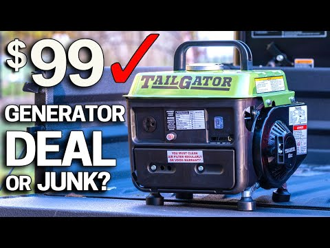 Testing the Cheapest Harbor Freight Generator $99 Tailgator