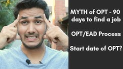 Biggest Myth of OPT - 90 days to find a job | EAD card process | MS in USA