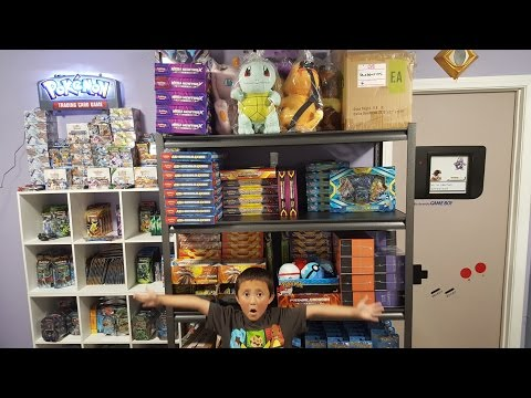BUYING EVERYTHING FROM A POKEMON STORE!!! EPIC EXPENSIVE $ HAUL! Inside The Best NINTENDO ROOM Tour!