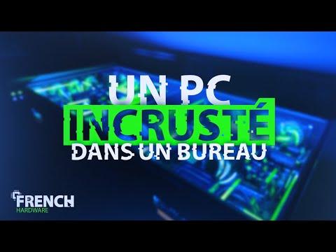 UN PC INCRUSTÉ DANS UN BUREAU!