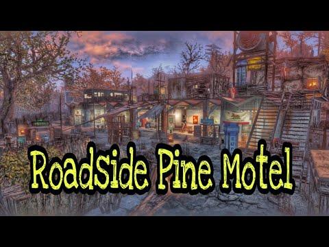 Fallout 4 Settlement: Roadside Pine Motel!!