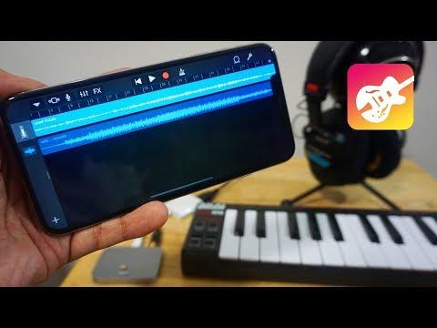 Recording on an iPhone XS Max & GarageBand | External Mic + MIDI Keyboard with Headphones!