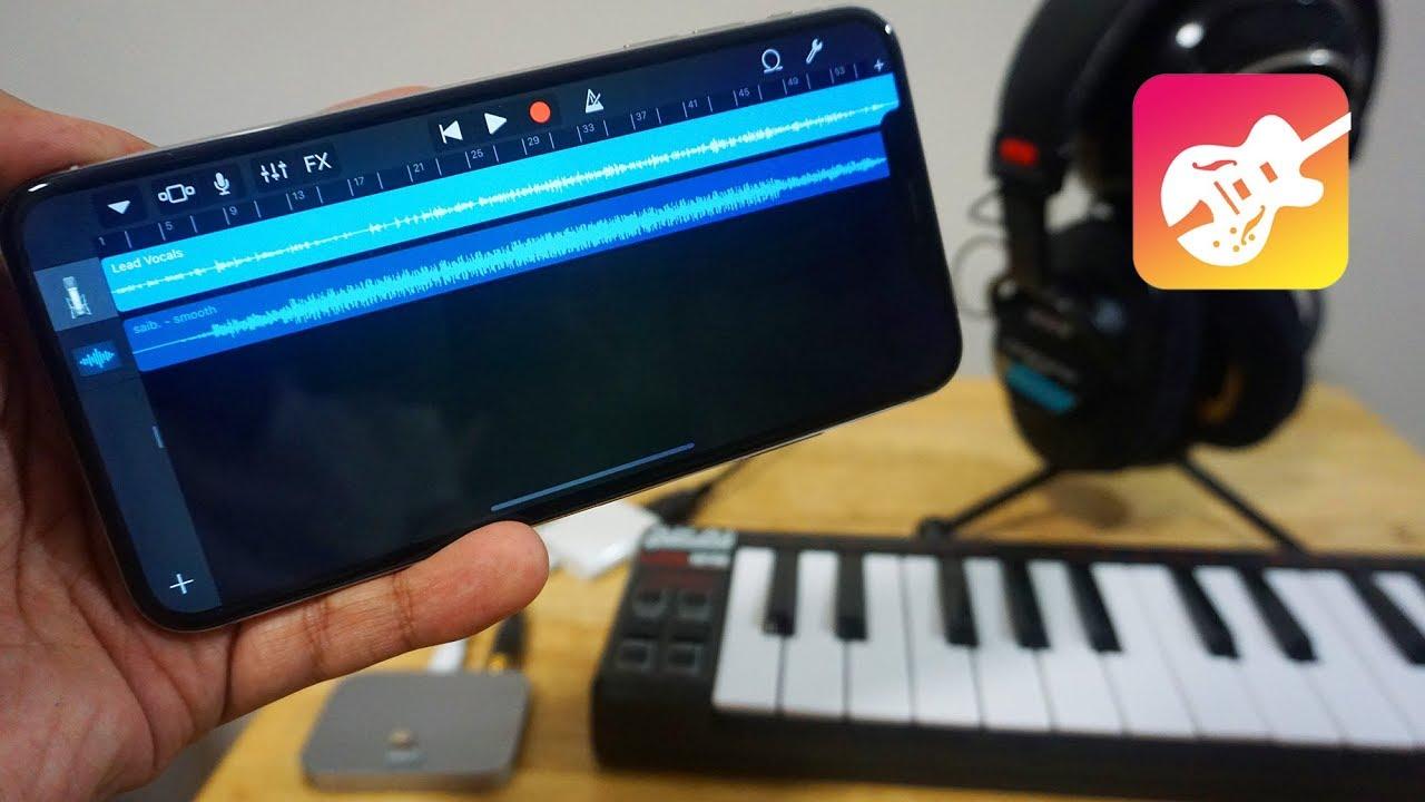 promo code 01d62 4bb8c Connecting an External Mic to an iPhone XS Max & GarageBand