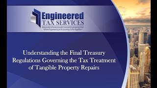 Action Points Pertaining to IRS Final Tangible Property Regs