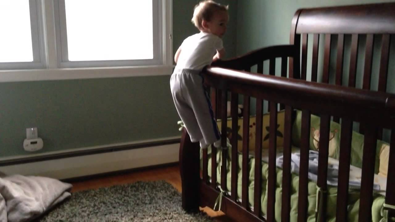18 month baby old climbs out of crib