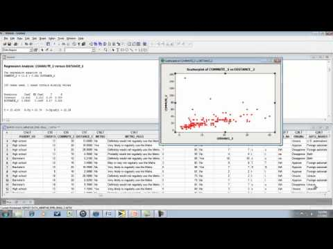Regression 3 - Predicting New Values, Part 1 (Minitab).mp4