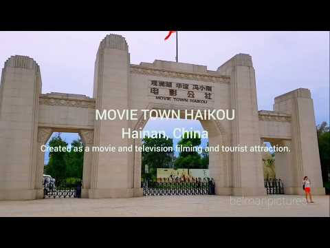 MOVIE TOWN HAIKOU, CHINA, Artificial Town made for movie/tele filming location & tourist attraction