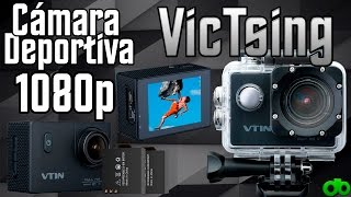 Cámara deportiva VTIN 1080p 12MP WIFI + Kit Accesorios (VicTsing Unboxing, Review y Test)