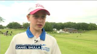 pros help young golfers at amfam championship