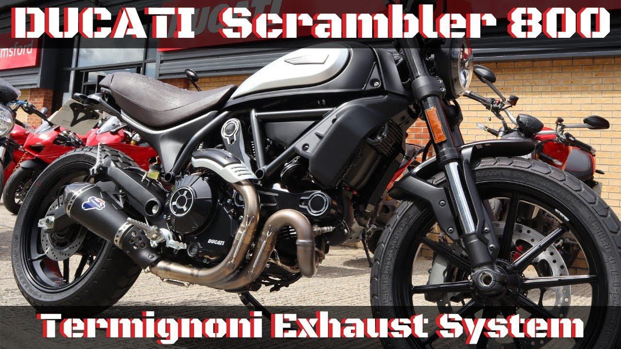ducati scrambler 800 termignoni exhaust system icon dark sound