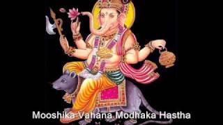 Ganesha Shloka (Mooshika Vahana)