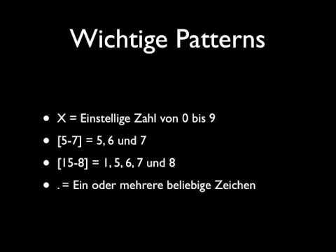 Screencast: Regex in Asterisk (Deutsch/German)