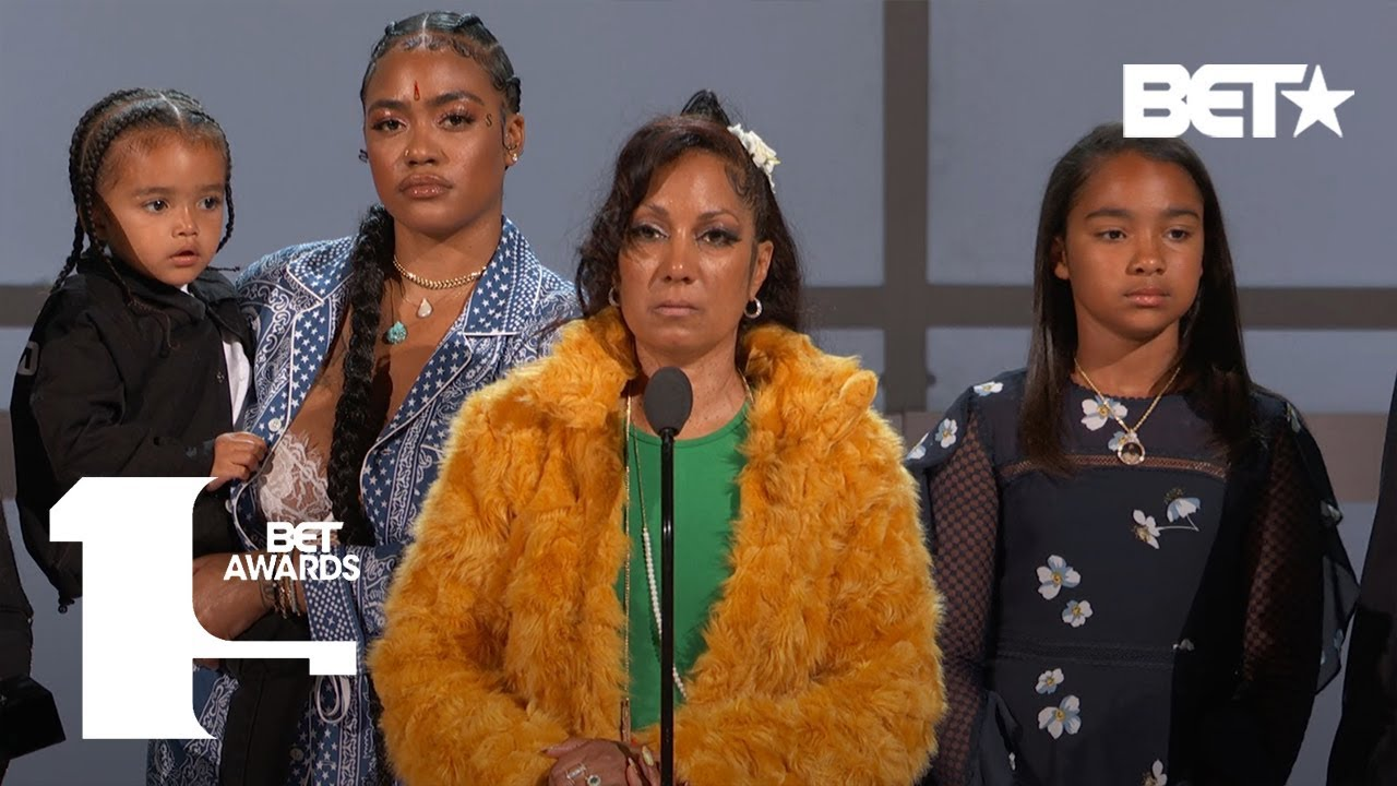 Lauren London, Angelique Smith & Family Accept Nipsey Hussle's Humanitarian Award | BET Awards 2