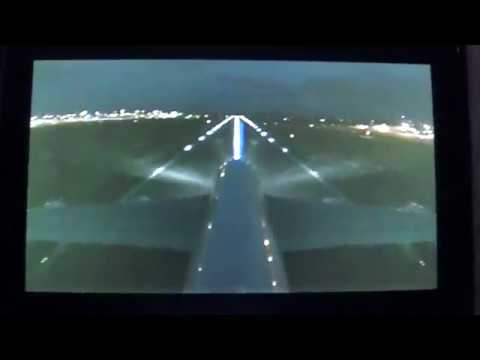 Emirates A380 Tail Cam Night Take off Birmingham Airport bhx