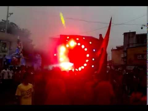 Dj sounds while ganesh visarjan at  RAICHUR 2015