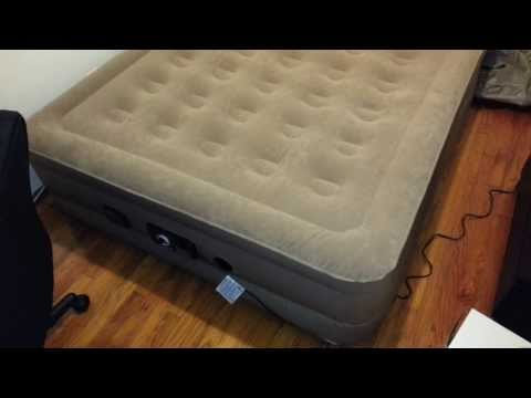 Insta-Bed Queen Air Mattress with Never Flat Pump - Inflating Video & Features + Review