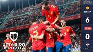 España 6-0 Croacia – GOLES Y RESUMEN - UEFA Nations League