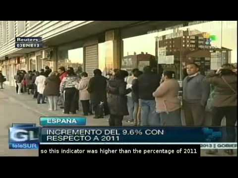 Almost 5 million jobless in Spain