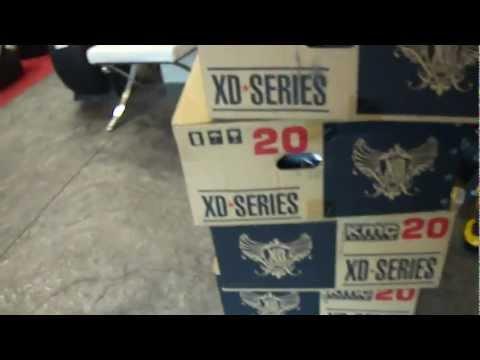 HILLYARD CUSTOM RIMS AND TIRES ROCKSTAR RIMS BRAND NEW IN A BOX XD SERIES.MP4