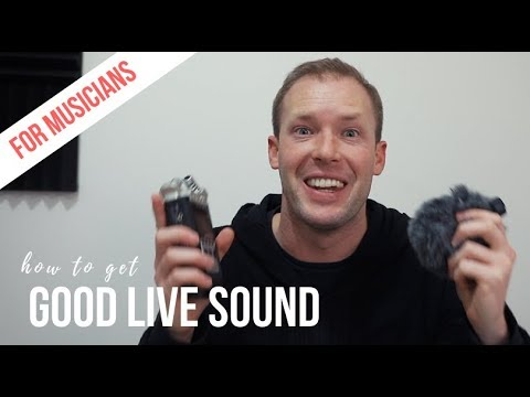 How To RECORD BETTER AUDIO - (for Musicians Doing Video At LIVE Shows)