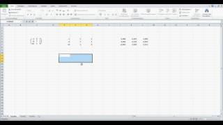 Inverse einer Matrix bilden Excel erklärt