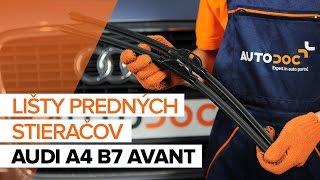 Ako vymeniť lišty predných stieračov na AUDI A4 B7 AVANT [NÁVOD]