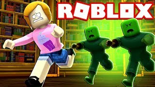 Roblox | Escape The Zombie At The Library Obby!