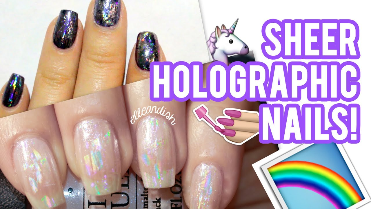 △ SHEER HOLOGRAPHIC NAILS △ - YouTube