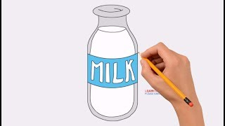 How to Draw a Milk Bottle Step by Step Easy
