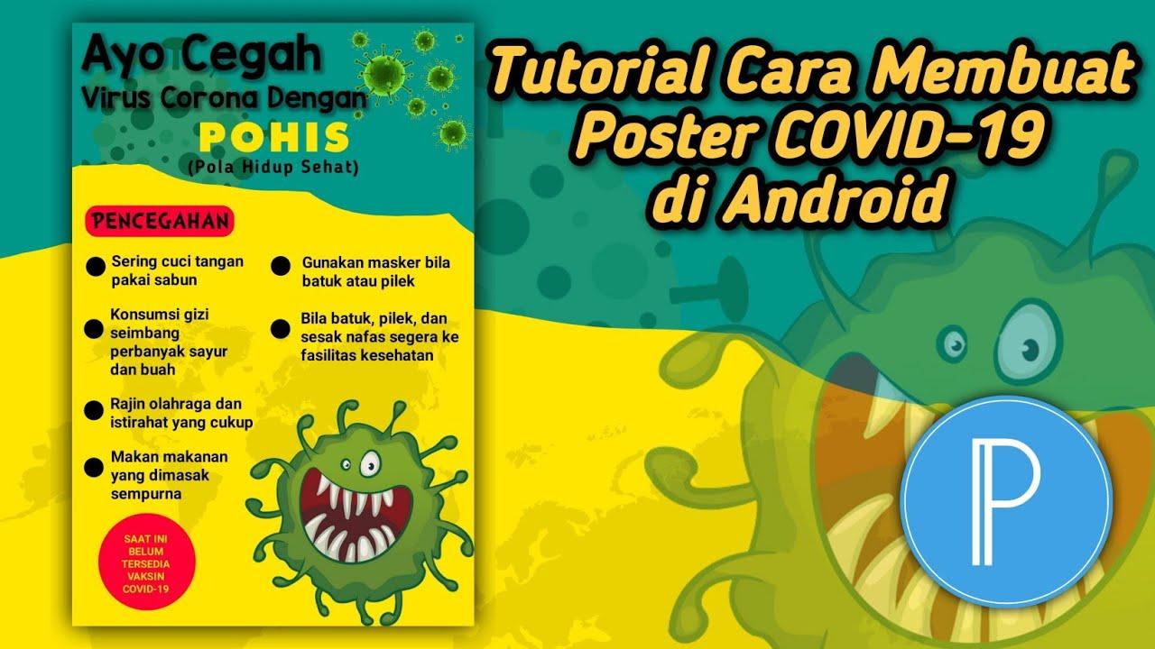 Tutorial Cara Membuat Poster COVID-19 di Android - YouTube