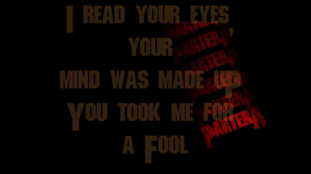 Pantera Cemetery Gates Lyrics - lyricsowl.com