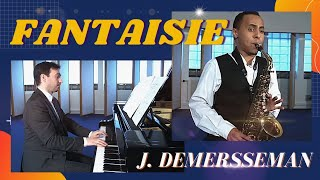 """Paul Lacombe plays """"Fantaisie sur un thème original"""" by Jules Demersseman Alto saxophone/piano"""
