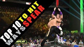 WWE 2K15 TOP 10 Ways to Hit Spear!! HD