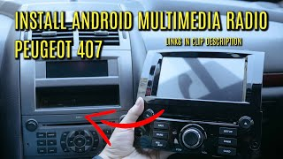 Install Android Multimedia Unit on Peugeot 407
