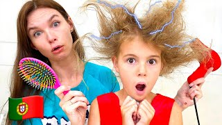 Cinco Crianças finge brincar como adultos | Histórias engraçadas para crianças