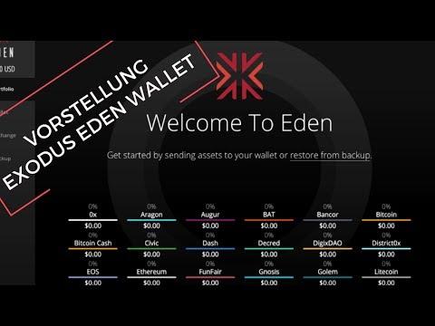 Exodus Eden Desktop Wallet - Verwalten von Bitcoin, Ethereum und weiteren Altcoins