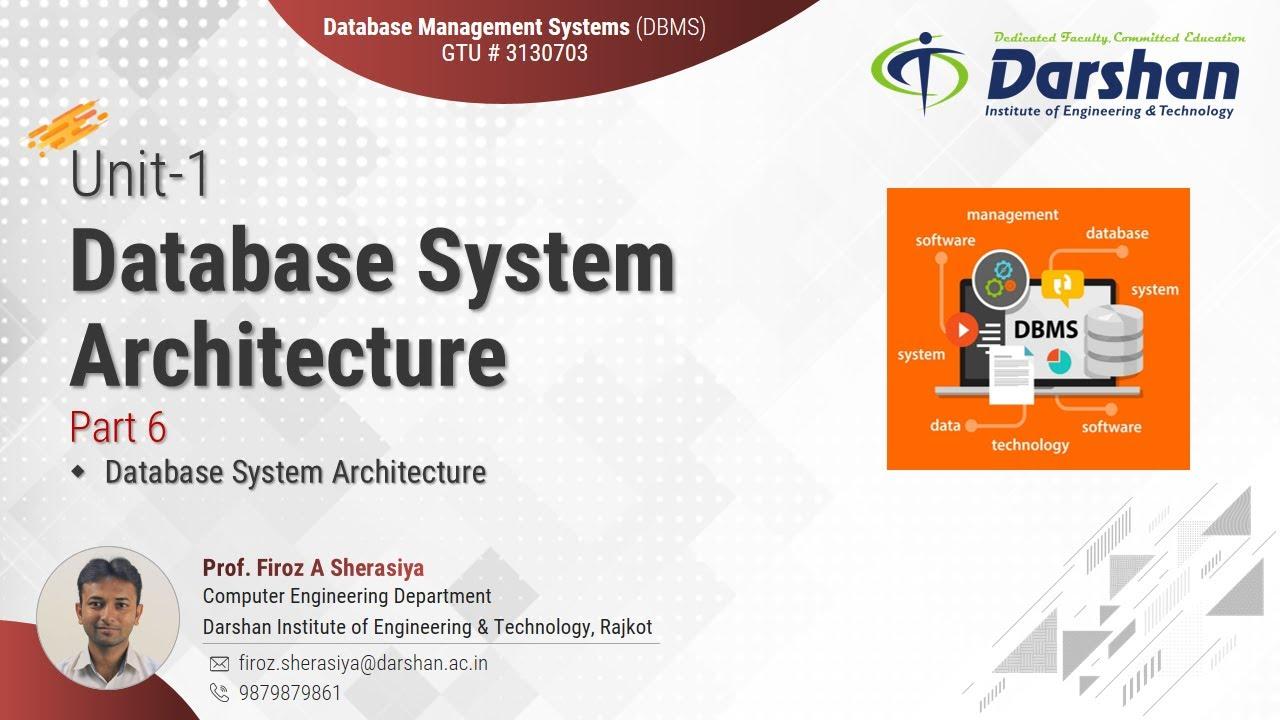 Database System Architecture   Unit-1 #6