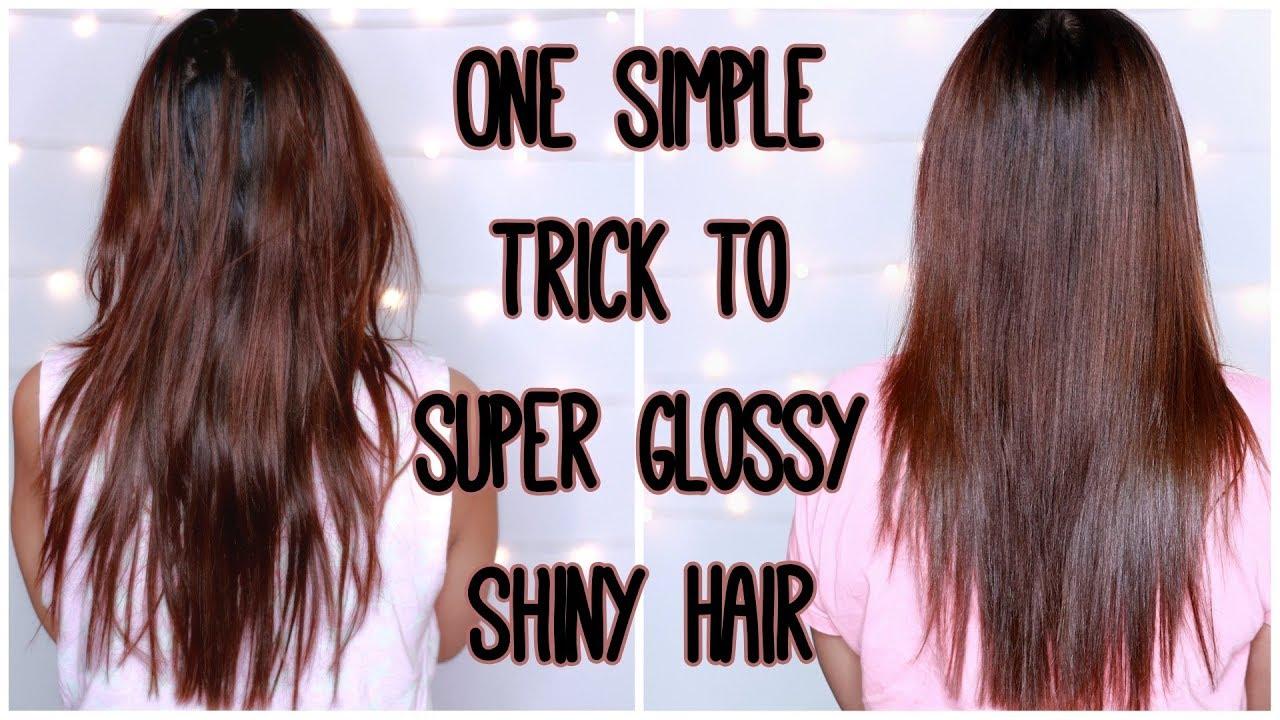 One Simple Trick To Super Glossy Shiny Hair Diy Hair Shine Spray Kavya K